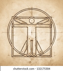 Grunge technical minimalistic design