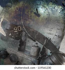 Grunge technology background