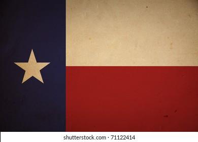 Grunge Texas state flag background.