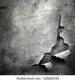 grunge  texture of teared metal sheet; abstract background
