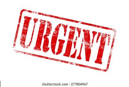 Grunge urgent rubber stamp.