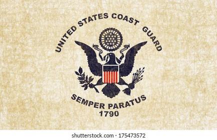 Grunge US Coast Guard Flag