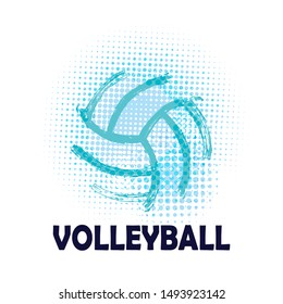 Grunge Volleyball ( T-shirt, Poster, Banner, backdrops design )