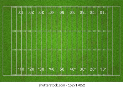 Grungy American Football Field