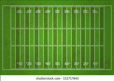 Grungy American Football Field with Dark and Light Grass Lines