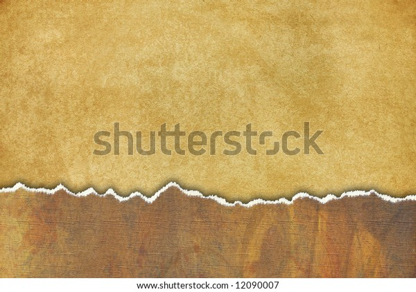 grungy background with torn paper