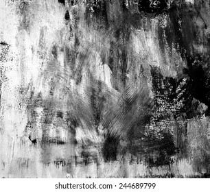 Grungy black white, grey and silver background