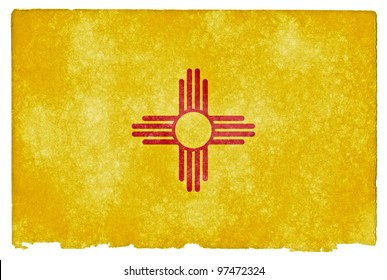 Grungy Flag of New Mexico on Vintage Paper