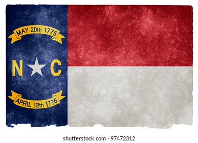Grungy Flag of North Carolina on Vintage Paper