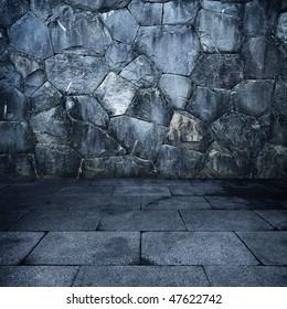 Grungy stone room