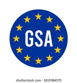 GSA, European global navigation satellite systems agency symbol