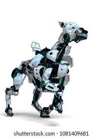guard dog is the security system 3d illustration
