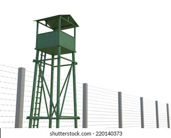 Guard Tower on a white background