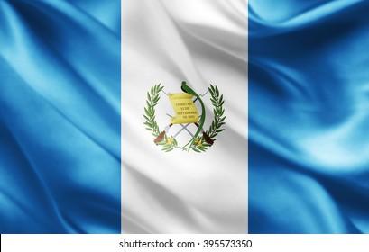 Guatemala flag of silk