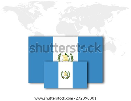 Guatemala Flag World Map Background Stock Illustration ...