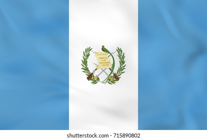 Guatemala waving flag. Guatemala national flag background texture. Raster copy.