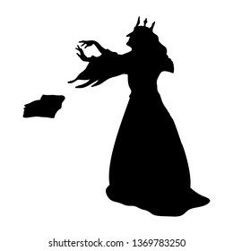 Gueen evil witchcraft magical silhouette fantasy. JPG illustration.