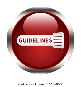 Guidelines button isolated