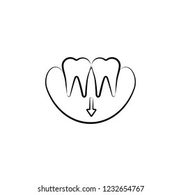 gums, dentist icon. Element of dantist for mobile concept and web apps illustration. Hand drawn icon for website design and development, app development