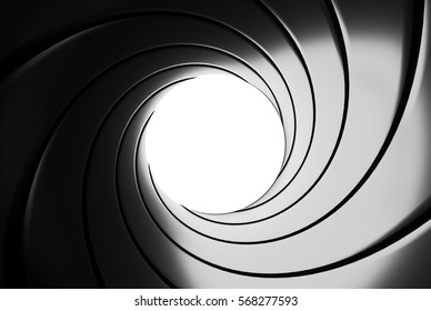 Gun barrel effect - 3D illustration