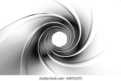Gun Barrel high resolution 3d rendering