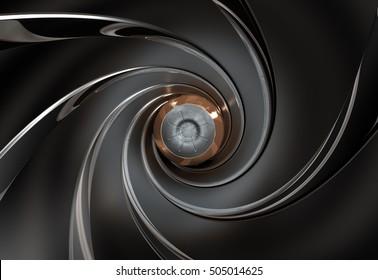 Gun barrel,Raw,3D rendering