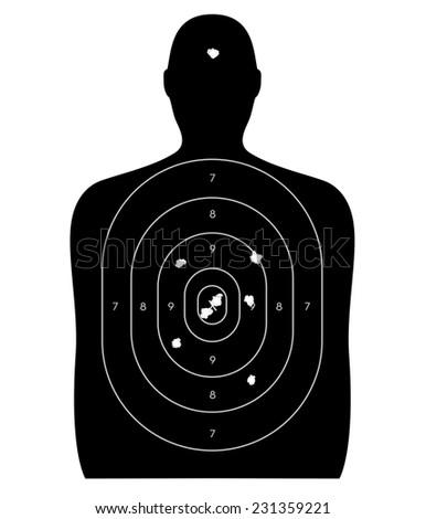 Gun firing range target