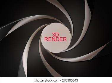 gun, rifled barrel inside 3d render