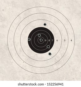 gun shoot to the shooting target concept
