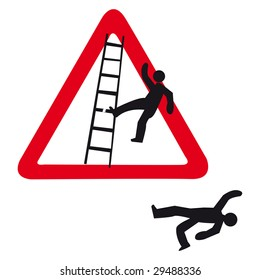 guy falls of a ladder