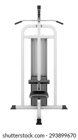 gym pull-down machine isolated on white background