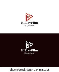h film logo design template