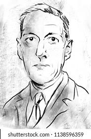 H. P. Lovecraft portrait