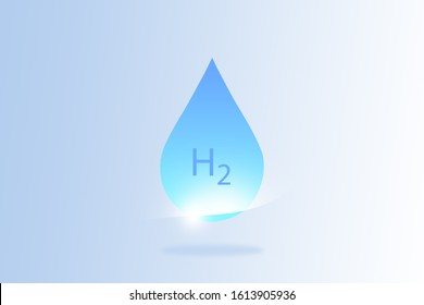 H2 and water drop, using hydrogen to power fuel cells