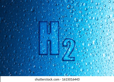 H2 and water drops, fuel cells produce water by combining hydrogen and oxygen
