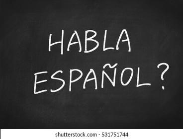 Habla Espanol? do you speak Spanish?