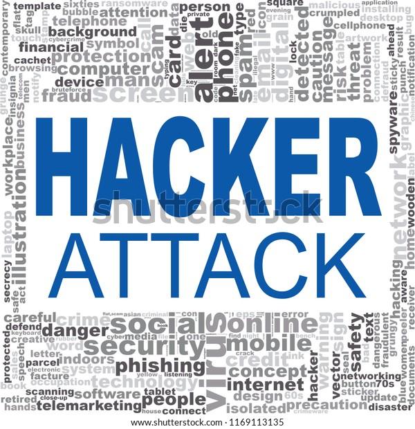 Hacker Attack Word Cloud Creative Illustration Stock Illustration ...