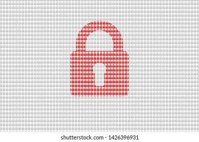 Hacking, internet cyber security background, hacking concept