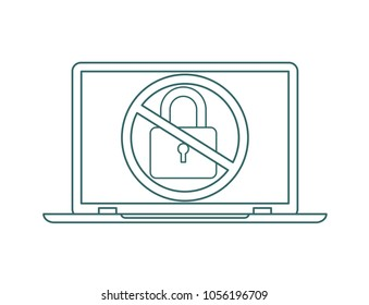Hacking phishing attack. Flat illustration of hack protection system
