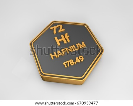 Hafnium Hf Chemical Element Periodic Table Stock Illustration