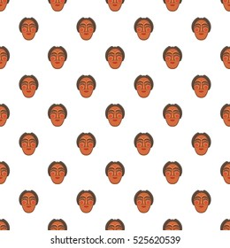 Hahoe mask pattern. Cartoon illustration of hahoe mask  pattern for web