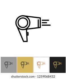 Hair dryer, blowdryer icon, hotel air blowing equipment
