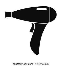 Hair dryer icon. Simple illustration of hair dryer icon for web design isolated on white background