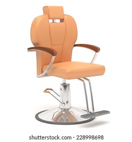 hairdressing chair isolate on white