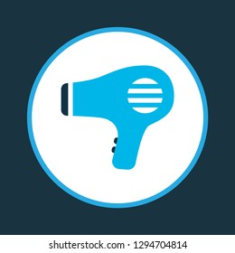 Hairdryer icon colored symbol. Premium quality isolated blowdryer element in trendy style.