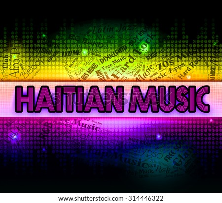 Royalty Free Stock Illustration of Haitian Music Showing