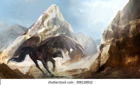 half horse half eagle creature