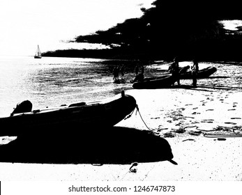 Half Moon Bay Beach Negative