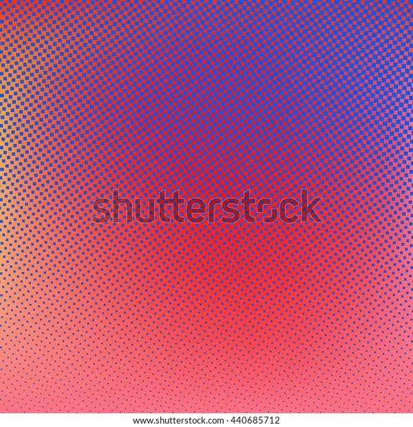 Halftone background. Red blue violet orange creative illustration