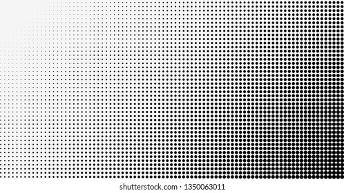 Halftone effect background. Spotted grunge pattern. Dark corner. Raster version